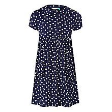 Buy John Lewis Girls' Spot Jersey Dress, Navy Online at johnlewis.com