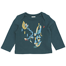 Buy No Added Sugar Baby's Bunny T-Shirt, Teal Online at johnlewis.com