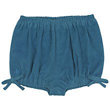 Buy No Added Sugar Baby's Corduroy Shorts, Teal Online at johnlewis.com
