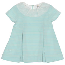 Buy No Added Sugar Stripe Collar Taffeta Dress, Teal Online at johnlewis.com