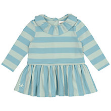 Buy No Added Sugar Baby's Striped Dress, Teal Online at johnlewis.com