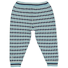 Buy No Added Sugar Baby's Criss Cross Knitted Trousers, Blue Online at johnlewis.com