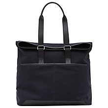 Buy Reiss Trapper Canvas Tote Bag, Navy Online at johnlewis.com