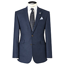 Buy John Lewis Tailored Basketweave Blazer, Indigo Online at johnlewis.com