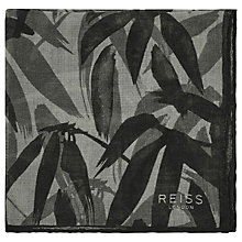 Buy Reiss Bandai Print Wool Pocket Square, Grey Online at johnlewis.com