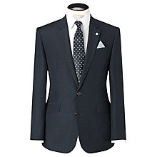 Buy John Lewis Tailored Linen Shadow Check Jacket, Navy Online at johnlewis.com