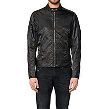 Buy Diesel J-Red Puff Bomber Jacket, Black Online at johnlewis.com