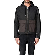 Buy Diesel Dan Mix Hooded Jacket, Black Online at johnlewis.com