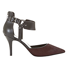 Buy Mint Velvet Robyn Suede High Heel Court Shoes, Rioja/Black Online at johnlewis.com
