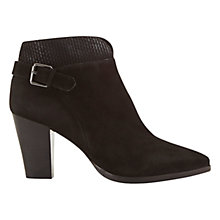 Buy Mint Velvet Penny Side Buckle Ankle Boots, Black Suede Online at johnlewis.com