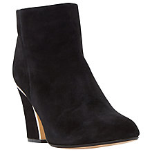 Buy Dune Olsenn High Block Heeled Ankle Boots, Black Suede Online at johnlewis.com