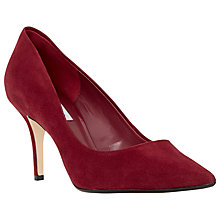 Buy Dune Alina Stiletto Heeled Court Shoes, Burgandy Online at johnlewis.com