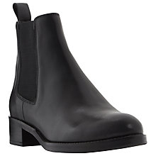 Buy Dune Peppie Chelsea Boot, Black Leather Online at johnlewis.com