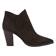 Buy Mint Velvet Poppie Ankle Boots, Black Suede Online at johnlewis.com