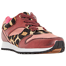 Buy Dune Edmonds Flat Lace Up Trainers, Leopard Pony Online at johnlewis.com