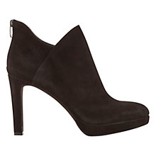 Buy Mint Velvet Jayda Rear Zip Ankle Boots, Black Suede Online at johnlewis.com