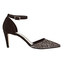 Buy Mint Velvet Sandi Pewter Glitter Court Shoe Online at johnlewis.com