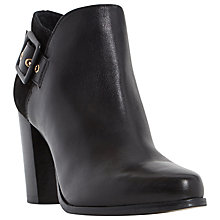 Buy Dune Oaklee Block Heeled Ankle Boots, Black Leather Online at johnlewis.com