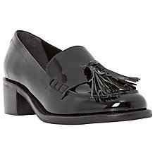 Buy Dune Gloria Tassel Loafers, Black Online at johnlewis.com