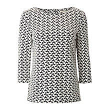 Buy White Stuff Salina Jersey Top, Black/White Online at johnlewis.com