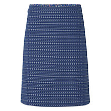 Buy White Stuff Cotton Etching Skirt, Uniform Blue Online at johnlewis.com
