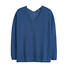 Buy Mango Fine Knit Jumper, Dark Blue Online at johnlewis.com
