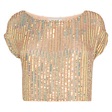 Buy Coast Bella Marie Sequin Top, Blush Online at johnlewis.com