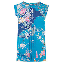 Buy Oasis Oriental Garden Embellished Top, Multi/Blue Online at johnlewis.com