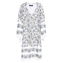 Buy Violeta by Mango Floral Print Dress, Natural White Online at johnlewis.com