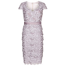 Buy Jacques Vert Tiered Lace Dress, Lilac Online at johnlewis.com
