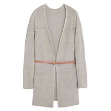 Buy Violeta by Mango Metallic Cardigan, Dark Brown Online at johnlewis.com