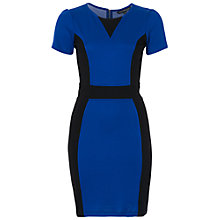 Buy French Connection Manhattan Round Neck Dress, Monarch Blue/Black Online at johnlewis.com