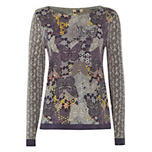 Buy White Stuff Fly Away Butterfly Print Jumper, Multi Online at johnlewis.com