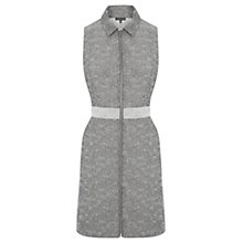 Buy Warehouse Textured Zip Front Dress, Multi Online at johnlewis.com