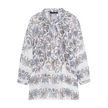Buy Violeta by Mango Paisley Print Blouse, Natural White Online at johnlewis.com