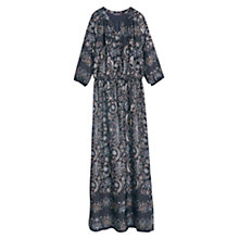 Buy Violeta by Mango Floral Print Maxi Dress, Navy Online at johnlewis.com
