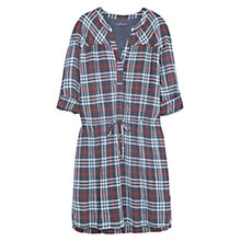 Buy Violeta by Mango Check Shirt Dress, Medium Red Online at johnlewis.com