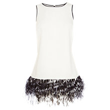 Buy Coast Riri Feather Hem Top, Mono Online at johnlewis.com