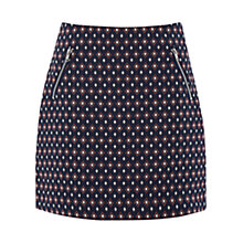 Buy Warehouse Diamond Jacquard Skirt, Multi Online at johnlewis.com