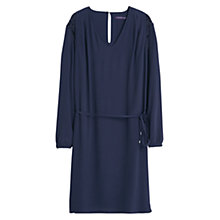 Buy Violeta by Mango Lace Panel Dress, Navy Online at johnlewis.com
