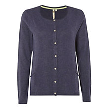 Buy White Stuff Rail Lines Long Sleeve Cardigan, Midnight Mauve Online at johnlewis.com