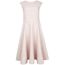 Buy Ted Baker Harmel Jacquard Midi Dress, Pink Online at johnlewis.com