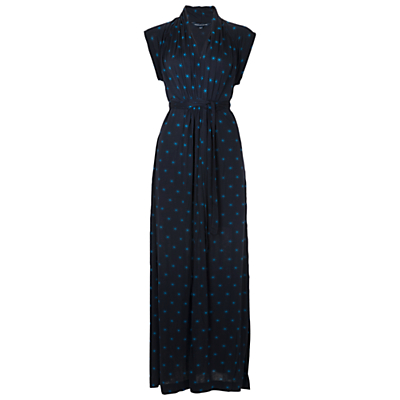 French Connection Nightsky Star Maxi Dress, Utility Blue/Cel Blue