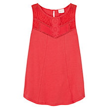 Buy East Lace Detail Jersey Top Online at johnlewis.com