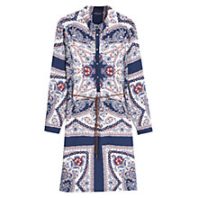 Buy Violeta by Mango Printed Shirt Dress, Navy Online at johnlewis.com