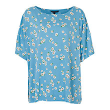 Buy French Connection Tropicana T-Shirt, Niagara Blue Multi Online at johnlewis.com