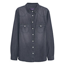 Buy Violeta by Mango Denim Shirt, Open Grey Online at johnlewis.com