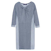 Buy Violeta by Mango Knot Detail Textured Dress, Grey Online at johnlewis.com