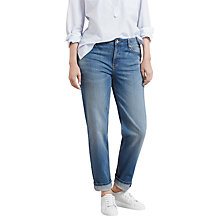 Buy Violeta by Mango Straight Ely Jeans, Medium Blue Online at johnlewis.com