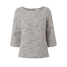 Buy White Stuff At Ease Textured Top, Midnight Mauve Online at johnlewis.com